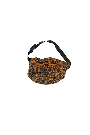 leopard velour hip sack